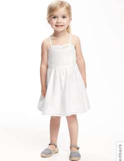 BN Old Navy Baby Girl Lace Camisole White Summer Dress 12-18mths & 18-24mths avail!