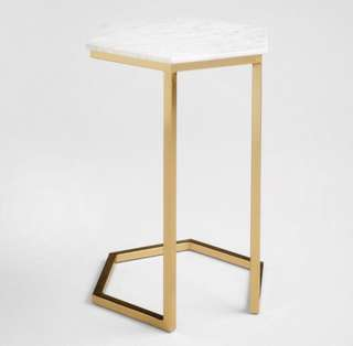 Hexagon Marble Gold Coffee Table