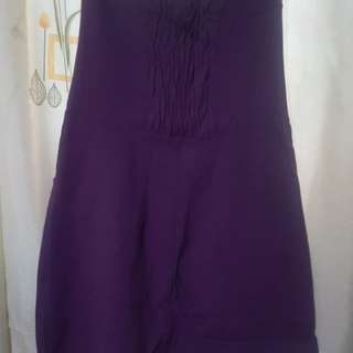 Purple tube dress small to medium