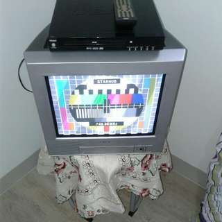 "SONY SILVER COLOR-TV 14"" (JAPAN)"