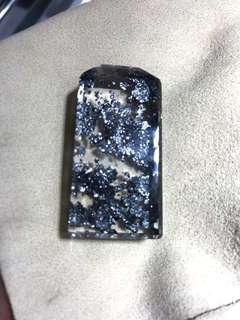 Brazilian natural blue mica crystal.