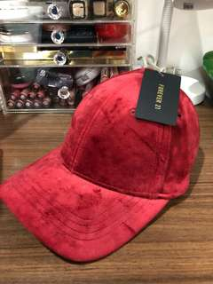 (With tags) Forever 21 Red Suede Cap