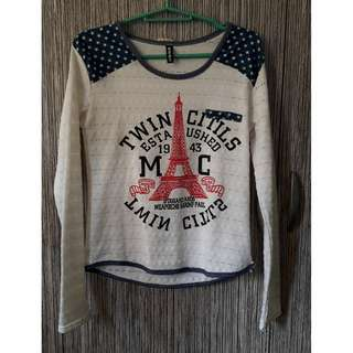 Paris Soft White fitted sweater