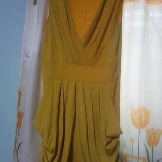 Yellow mini dress small to medium
