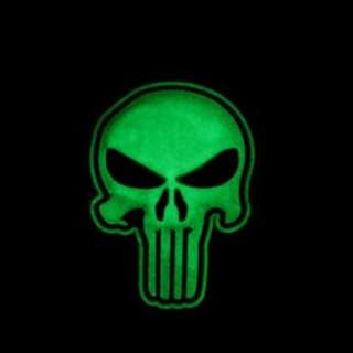 Punisher patches glow in the dark