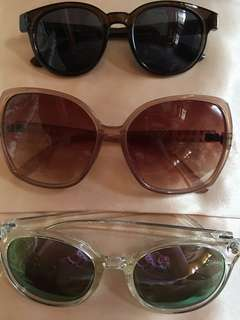 Assorted branded shades