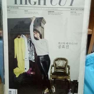 HIGH CUT孔孝真 2013, Jan. Vol.93 Korean海報畫報