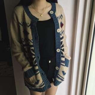 2 in 1 Cardigan + Sweater Rajut