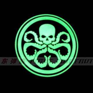 Hydra patches glow in the dark