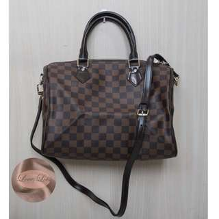 LOUIS VUITTON SPEEDY BANDOULIERE 30 DAMIER EBENE CANVAS