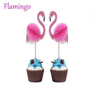 Cupcake toppers Flamingo