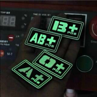 blood tag patches glow in the dark