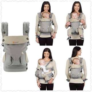 Used Ergobaby 360 Baby Carrier in grey