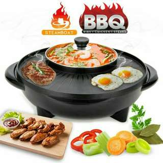2 in 1 BBQ Grill & Steamboat