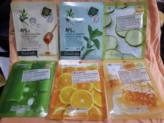 Authentic korean facemask sheets