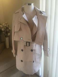 Two piece trench coat