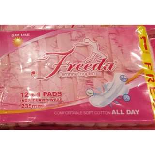 freeda feminine napkin 12+1 pads individually wrap