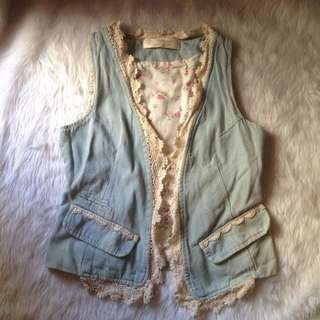 Vest Denim lace