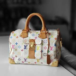 Authentic Louis Vuitton Multicolor Speedy LV