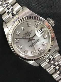 Rolex 69174 K series Diamonds Index Pearl Dial