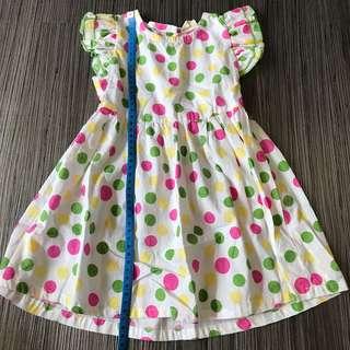 Seashell girls dress (dots)