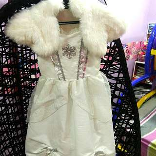 Authentic Disneyland Snow Queen Dress Costume