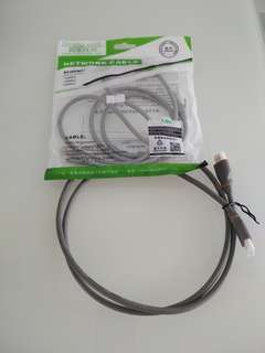 HDMI cable 1.2 metre. And ethernt patch cable