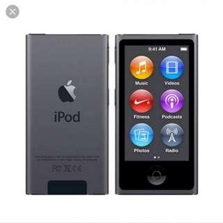 iPod Nano 16GB 7th Gen in Gray