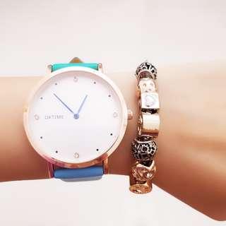 Pastel Diamond Crystal Design Watch