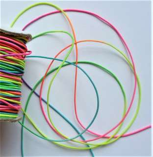 Strings - 100 Metres of 1mm Multi-Colours Round Elastic Cord @ S$14.90