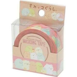 (分裝)日本san-X 角落生物 排排站 紙膠帶