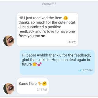 Happy customer's feedback!