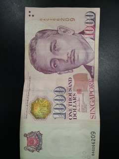 1000 dollars note nice number