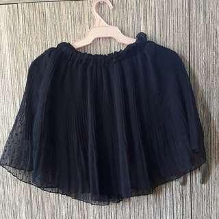 Korean Navy Blue Flowy Skirt