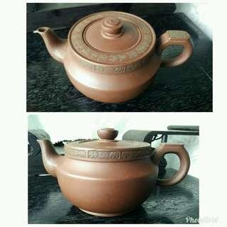 二手大舅公家的陳國良落款紫砂壺泡茶茶壺16孔有歷史使用痕跡