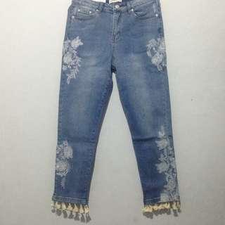 The Cigarette Tassel Jeans