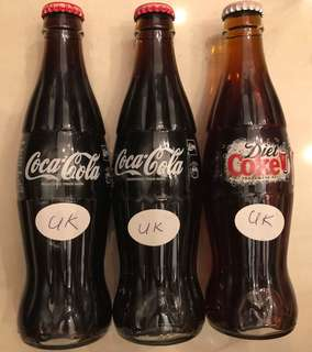 Glass Coke Bottles (United Kingdom)