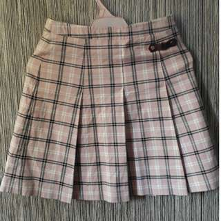 Korean Pink Checkered Tennis SKirt
