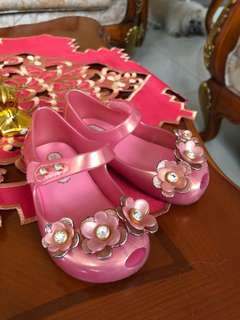 Original mini Melissa Pink Swarovski Shoes