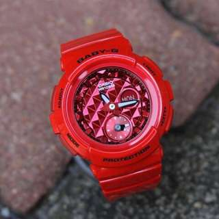 Authentic Brand New Casio Baby-G BGA-195M-4A Red Ladies Watch BGA-195M-4 BGA195-4 BGA195M BGA195M-4 BGA195M