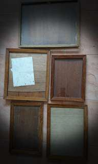 Vintage Burmese teak frames for yr vintage documents