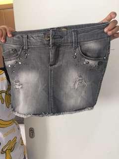Stradivarius jeans skirt