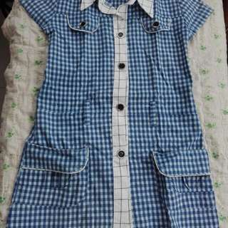 Checkered Blue Dress for bagets