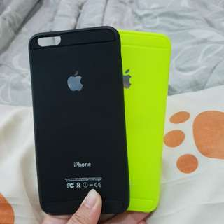 Soft case iphone 6+ neon or black
