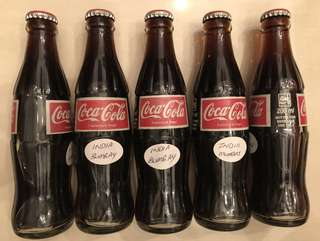 Glass Coke Bottles (Bombay, India)