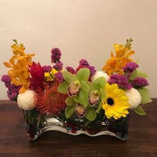 Fresh Flower Table Arrangement