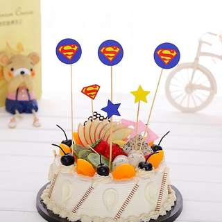 💥 Superheroes Justice League Superman party supplies - DIY Cake Deco / dessert topper