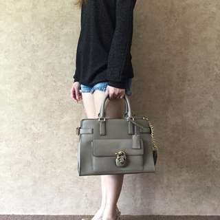 MICHAEL KORS 30H6GENS2L EMMA SAFFIANO LEATHER SATCHEL