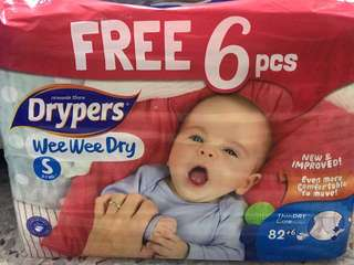 Drypers Diapers size S
