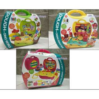 Ready Stock Suitcase Pretend Playset with Dough